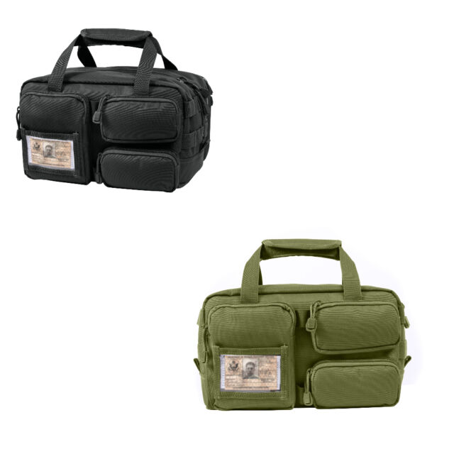 Olive Drab Green Black Tactical Molle Linesman Military Mechanics Tool Bag Kit