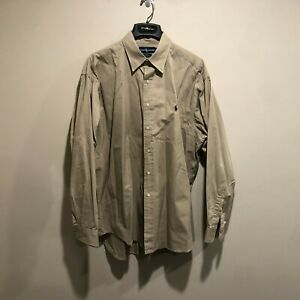 Polo-Ralph-Lauren-Khaki-Shirt-Men-039-s-XL-Tan-Blake-Fit-Long-Sleeve-Button-Front