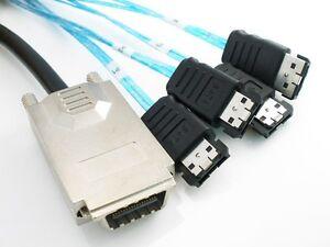 Mini-SAS-34P-SFF-8470-4x-E-SATA-7P-INFINIBAND-TO-4-ESATA-1M-Cable