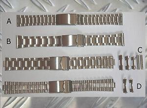 4-ACERO-inox-Correas-Reloj-von-18-hasta-22mm-De-Eleccion-Correa-Para-CINTA