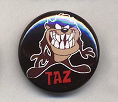Taz Tazmanian Devil Fancy Quality Embroidered Iron On Patches Badges Pair
