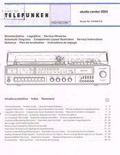 Telefunken Studio center 5004 + Dual 1257 Schaltplan Manual ORIGINAL 51 Seiten
