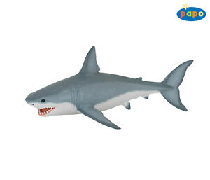 Blanco-Tiburon-18-0-cm-Animales-acuaticos-Papo-56002