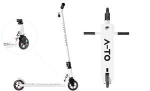 MONOPATTINO A-TO DAYTONA STUNT WHITE / BIANCO STUNT SCOOTER FREESTYLE 110 mm