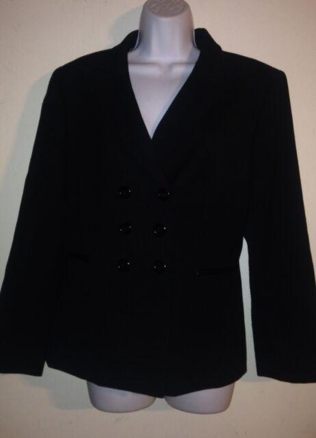 Tahari Elegant Black Career Blazer Size 12P