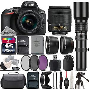 Nikon-D5600-DSLR-Camera-Nikon-18-55mm-VR-Lens-500mm-Telephoto-Lens-32GB-Kit