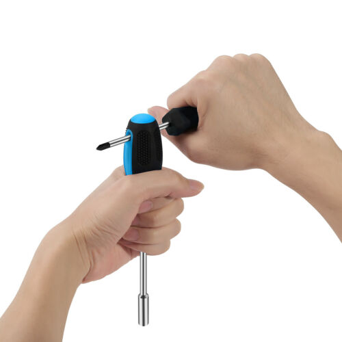 27Pc Home Repair Hand Tools Toolbox Screwdriver Plier Hammer Cordless Drill+Bits