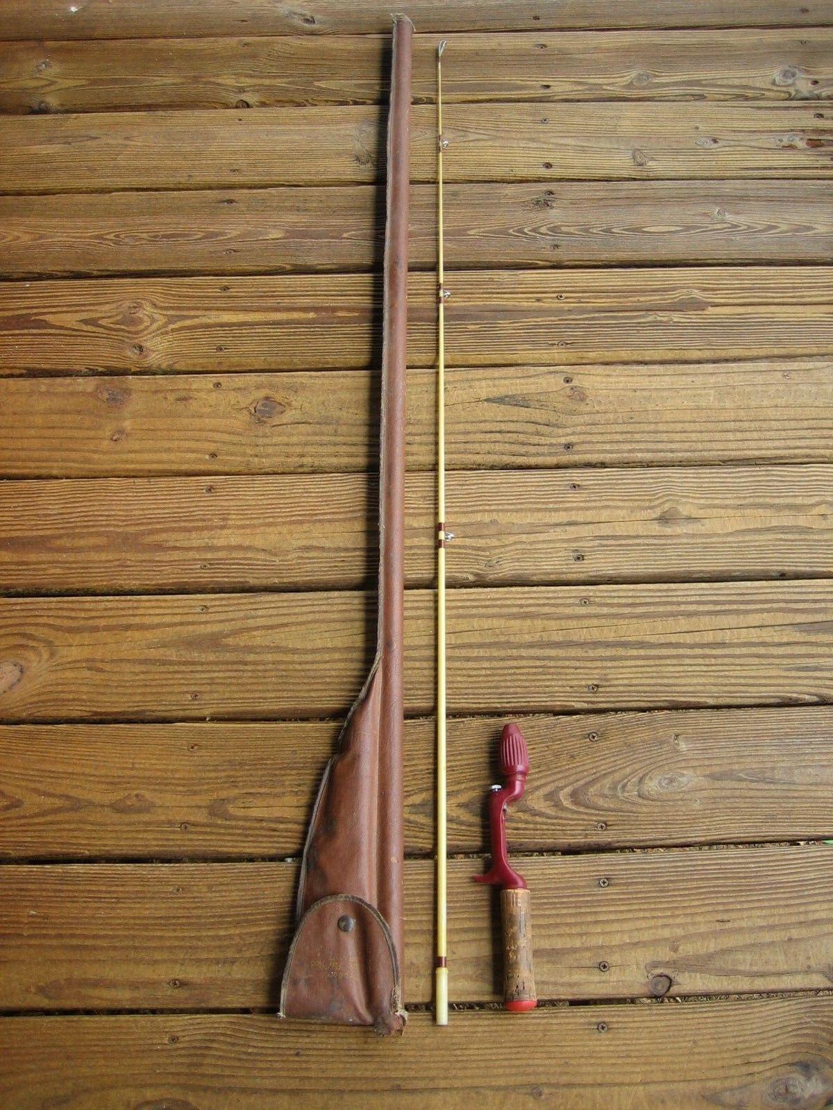 Vintage Heddon Deluxe Pal 3151 5 Ft. Fishing Rod With Vinyl Case