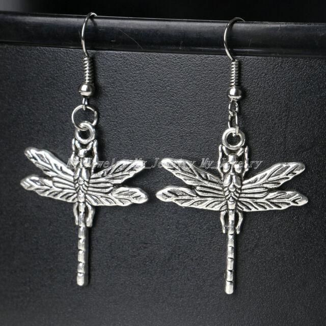 Vintage Tibetan Silver Hook Drop Dangle Earrings Women Lady Girl Jewellery Gifts