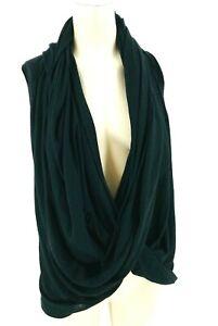 alo yoga  women's size xs  black front scarf wrap