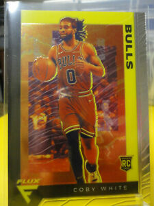 Coby-White-2019-20-Panini-Chronicles-583-Flux-RC-Rookie-Card-Chicago-Bulls