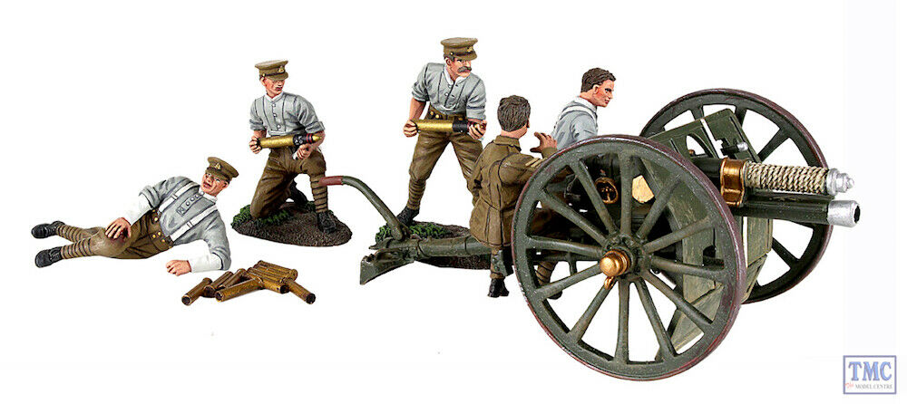 B23078 W.Britain 1914 British 13-Pound Gun RHA RHA Crew - 7 Piece Ltd. Ed. 500