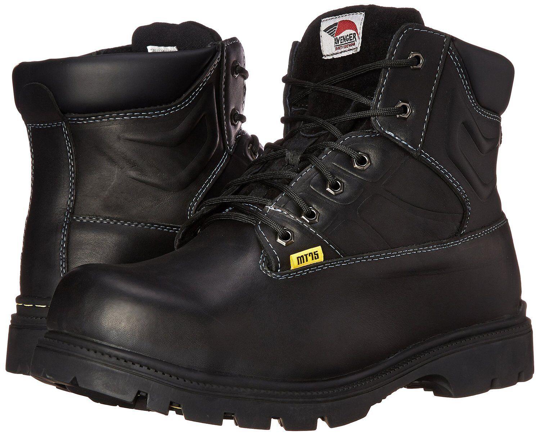 Para Hombre Avenger A7300 Bota De Seguridad Cuero Negro Cuero Seguridad Tamaño 8 MSRP 150 7aa168