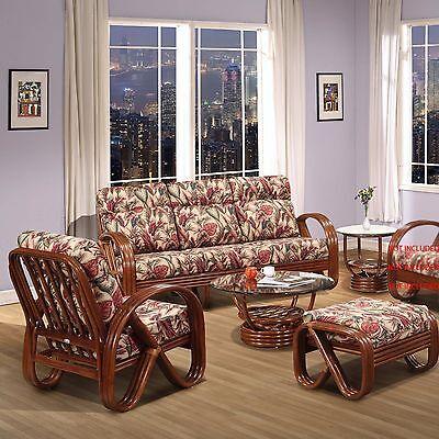 Rattan Living Room Furniture 5 Pieces Sofa Set (#1790AW-CN)   eBay