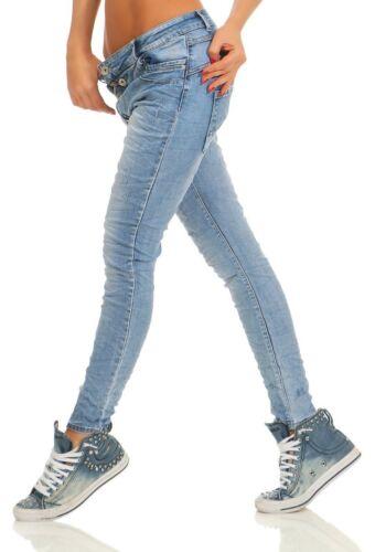 11105 Damen Jeans Hose Boyfriend Haremsjeans Slim-fit Röhre Damenjeans Pants