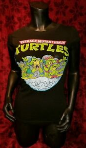 SMALL-Mighty-Fine-Teenage-Mutant-Ninja-Turtles-80-039-s-Retro-T-shirt-Punk-Rock-TMNT