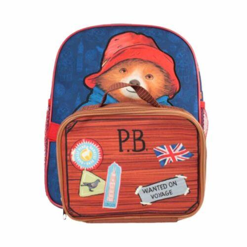 Children/'s Paddington Bear Mochila Con Estuche Desmontable Escolar Bolsa-Almuerzo Bolso