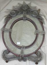Miroir murano ovale bicolore