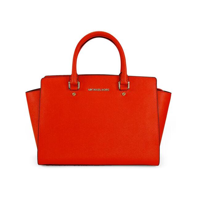Michael Kors Selma Satchel Handbag - Mandarin 30S3GLMS7L-829