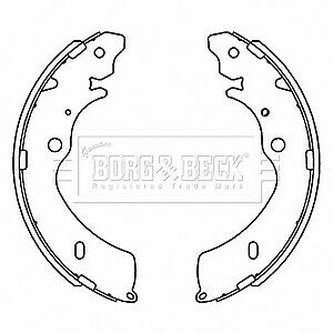 Brake-Shoes-fits-ISUZU-RODEO-Mk1-2-5D-Rear-02-to-12-Set-B-amp-B-8973026351-Quality