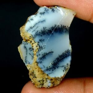 Dendrite-Opal-Rough-Slab-Cabochon-Loose-Gemstone-100-Natural-Rough-Slab