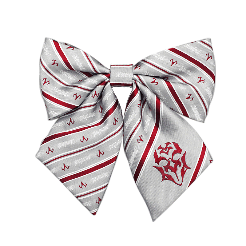Anime Fate/Grand Order Mordred Cosplay Gray Ties Uniform Bow Tie Neckwear