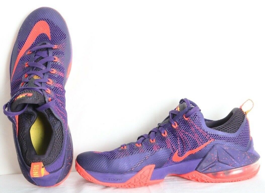 Nike Lebron XII 12 Low Tgoldnto Tgoldnto Tgoldnto Raptors Purple Running Sneaker's Women's US 10.5 a1d942