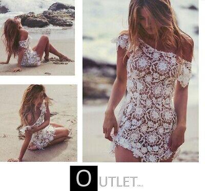 per spiaggia per cache costume in raso estate vacanze bikini rete ricamata con frange Mini abito da spiaggia semplice da donna