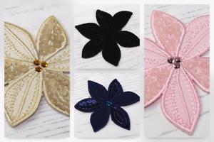 MI-20-2056-M Flor de Hierro en apliques de adorno de lentejuelas-cada uno