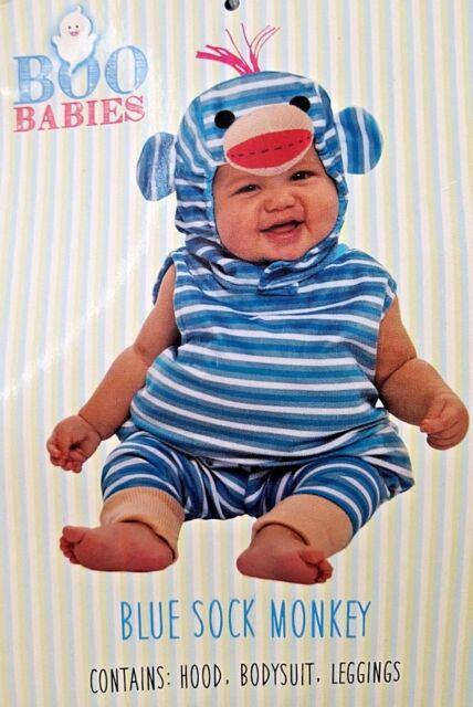 Boo Babies Lil Blue Sock Monkey 3 Piece Halloween Costume Infant 9 18 Months For Sale Online Ebay