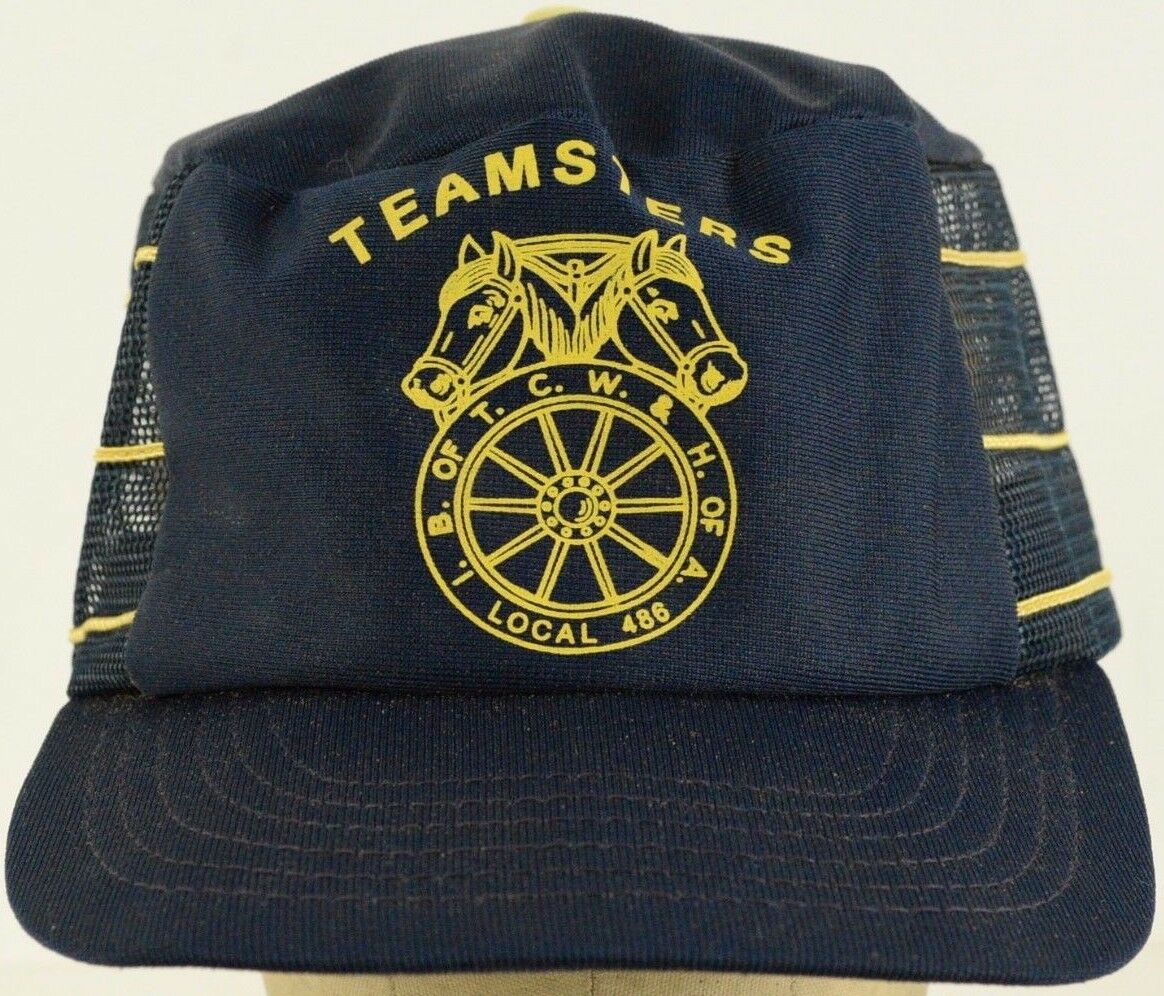 Teamsters B of TCW & H of A 486 Local 486 A Blue Mesh Conductor Hat Cap Snapback Strap 9685e6