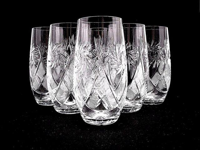 Villeroy Boch Bernadotte Set 6 Glasses Highball Soda Crystal For Sale Ebay