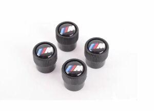 Genuine BMW M Logo Wheel Tire Valve Stem Cap Set 4 NEW 36122456427