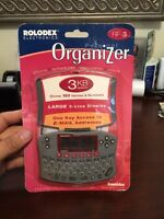 Rolodex Electronic Organizer (rf3) 3kb Franklin Electronics 2000 Vintage Rare