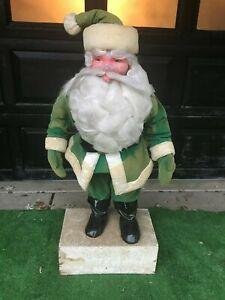 """Vintage Harold Gale(?) Teem Soda(?) Store Display Santa in Green 46"""""""