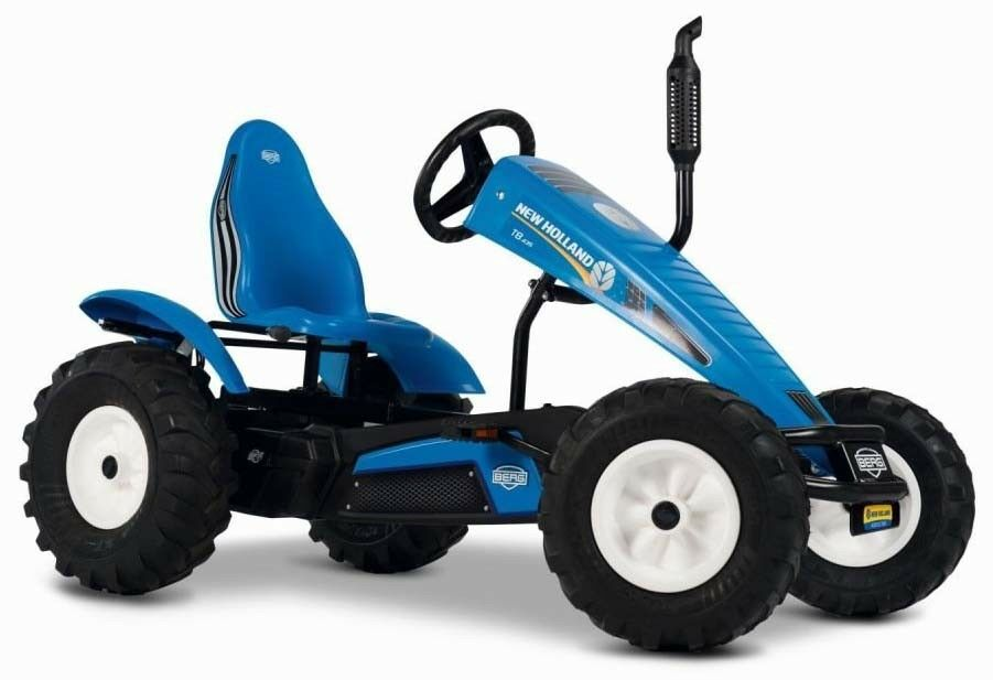 Berg New  Holland BFR-3 Traxx Kids Pedal Car Go Kart bluee 5+ Years  lowest prices