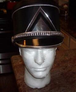 Image is loading Fruhauf-Uniforms-Black-Marching-Band-Shakos-Helmet 16f344be4dc