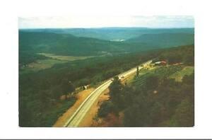 OZARKS-AR-Mount-Gayler-Tower-Winfrey-Valley-View-Vtg-PC-Arkansas-Postcard