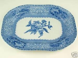 Serving-Platter-10-1-2-034-Copeland-Spode-039-s-CAMILLA-blue-amp-white-vintage-England