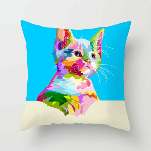 Rainbow Animal Polyester Pillow Case Cover Sofa Waist Cushion Cover Decor Home