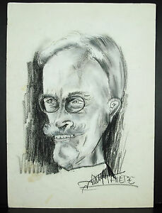 J-M-Thiere-C-1980-Drawing-Portrait-Charcoal-And-Highlights-Gouache-17-11-16in
