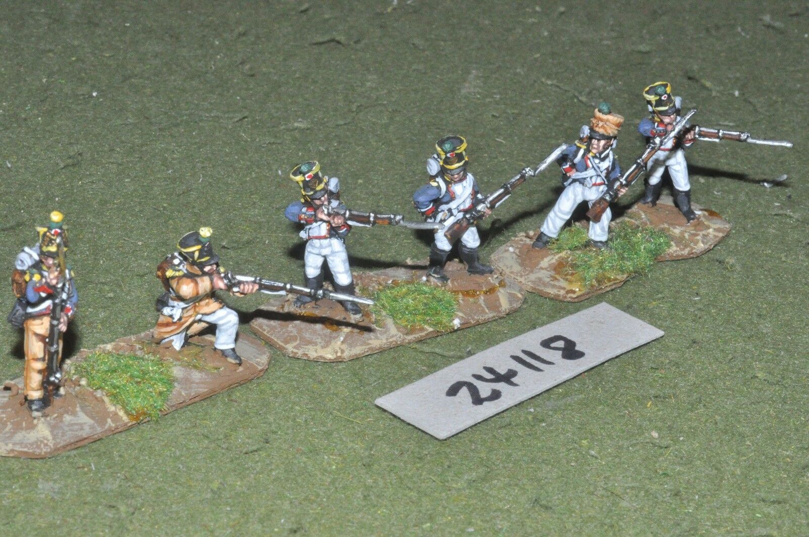 25mm napoleonic   french - skirmishers 6 figures - inf (24118)