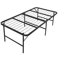 "Foldable Platform Bed Frame and Mattress Foundation 17"" inch Bi-Fold, Twin Size"