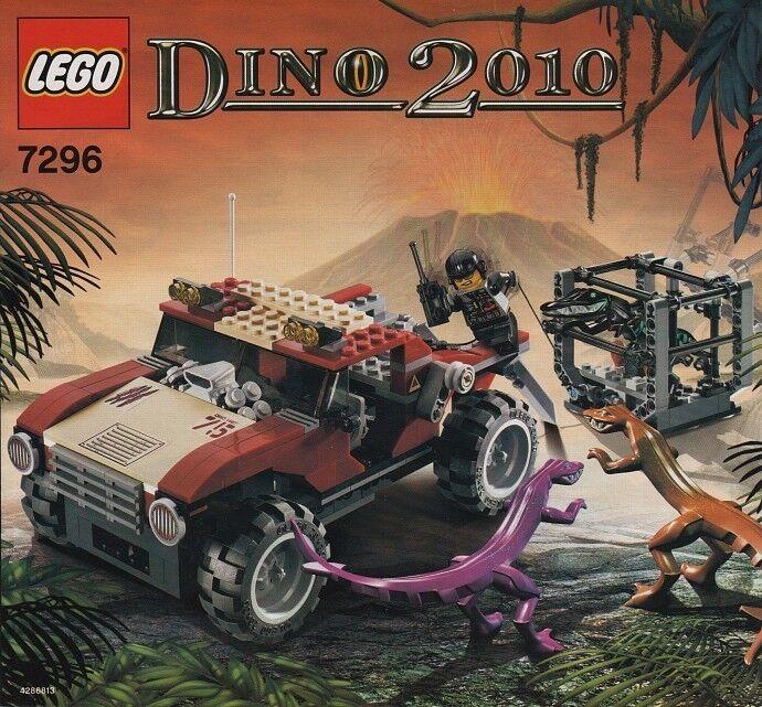 RARE 2005 LEGO 7296 DINO 2010 4WD Trapper Used complete Read description