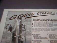 VINTAGE.....PITTS SPECIAL S-1/S-2S/S-2  .. ORIGINAL SALES AD...RARE! (51L)