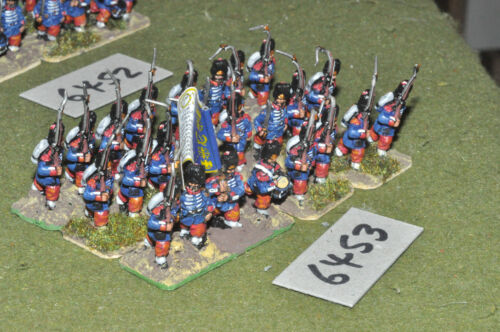 20mm 19th century franco prussian french guards 24 figs metal inf 6453
