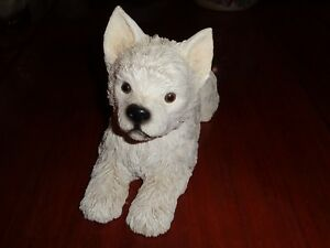 Unknown-Make-Large-West-Highland-White-Terrier-Figurine-Laying-Down