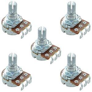 5 X 10k Linear 16mm Potentiometer Pot Solder Lugs