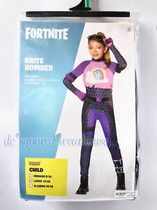 Spirit Halloween Fortnite Costumes For Kids.Details About Fortnite Kids Large 12 14 Brite Bomber Costume Spirit Halloween New