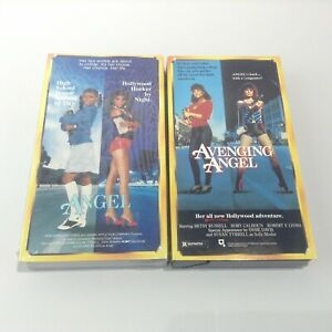 LOT 2 Avenging Angel & Angel (VHS Lot of 2) Cult Sleaze Action Non-Rentals